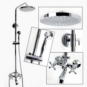 guma luxury shower faucet set with round fixed rain shower head yl13