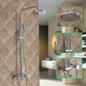 shower faucet with handheld shower head. Guma Rain Shower Faucet Set with Handheld Head DL 2566