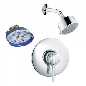 hansgrohe allegro e thermobalance with rough in and showerhead ks04154 27683cr