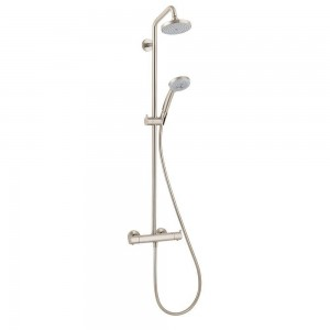 hansgrohe brushed nickel showerpipe shower 27169821