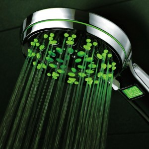hotelspa led lcd hand shower with lighted lcd temperature display 5 setting 1485