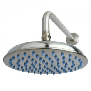 kingston brass trimscape showerscape rain shower 8 inch diameter brass showerhead with 12 inch shower arm k158a8ck