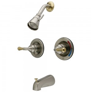 kingston brass twin handles tub shower faucet kb679