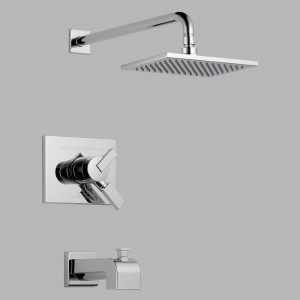 delta vero wall mount tub shower t17453