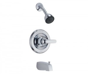 delta faucet chrome monitor tub shower 1343