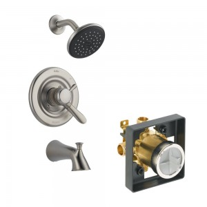 delta faucet lahara tub shower kit ktsdla t17438 ss