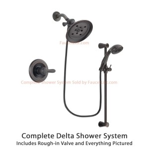 delta faucet large rain showerhead and personal handheld shower dsp2692v