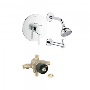 Grohe concetto tub shower faucet kts 19457 35015 001 - Grohe concetto shower ...