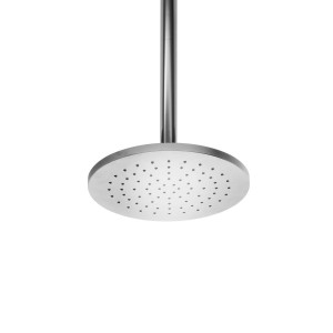 ws bath collections linea self cleaning rain shower head in polished chrome 53825