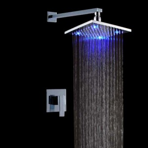 jiayoujia led single handle 8inch rain shower system