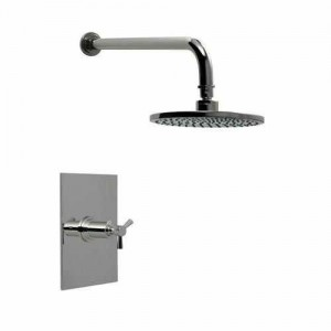 santec 8 inch deluge rain head modena ii polished bronze pressure balance shower 3532tx40 tm