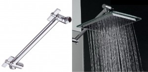 akdy bathroom chrome shower head az6021 plus arm