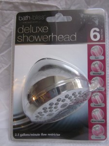 bath bliss deluxe showerhead with 6 function