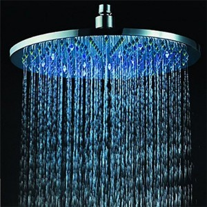 cobblehome rgb led 7 colors round bathroom shower head