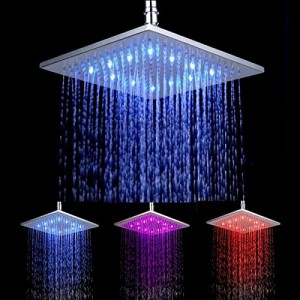 facilla 10 inch led color changing showerhead