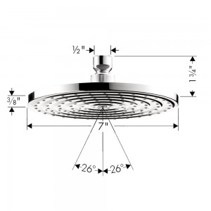 hansgrohe raindance 180 air shower head 27476001