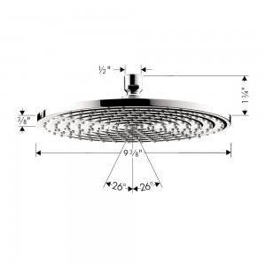 hansgrohe raindance downpour air showerhead 10 inch 27474001