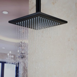 hiendure ceiling mount 10 inch stainless rainfall showerhead