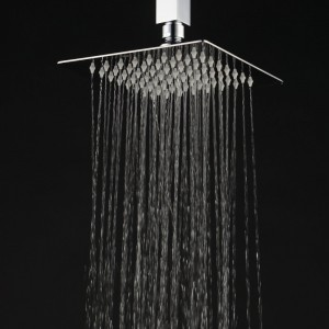 Home Built 8*8 Inches Ultra Thin Rainfall Showerhead