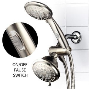 hotelspa 3 way 42 setting ultra luxury with patented on off pause switch showerhead