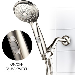 HotelSpa® 9-Setting Luxury Brushed with Patented On/Off Pause Switch