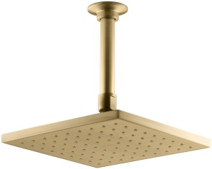 kohle contemporary square rain showerhead k 13695 bgd 8 inch