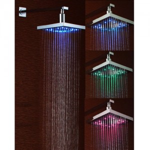 lightInthebox sensitive rainfall led showerhead 8 inch