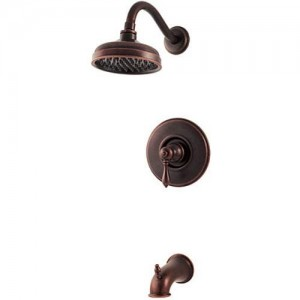 pfister marielle 1 handle tub and shower trim r89 8mbu