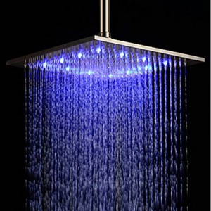 rozinsanitary led color bathroom square shower head 12 inch