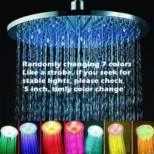susy bath shower head romantic rain shower 8 inch 7 color led