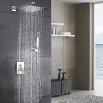 esnbia luxury high pressure brushed nickel-rain shower
