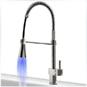 Detroit Bathware DJ95412 LED Kitchen Sink Swivel Faucet