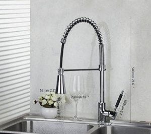 Detroit Bathware Single Handle LED Spray Faucet Showerhead 5665