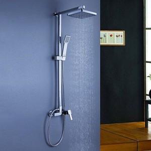 faucet shangdefeng brass chrome rain handshower b0160nipei