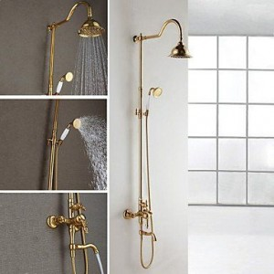 faucetdiaosi wall mount brass shower b0160o91l8
