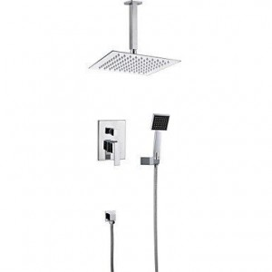 faucettuandui 8 inch concealed chrome polished shower b016kuweo8