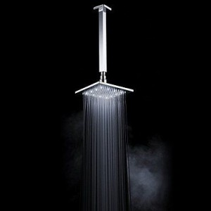 faucettuandui led brass chrome rain shower b016kv10om