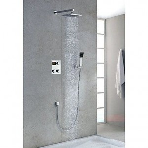 ltyu faucets contemporary 8 inch thermostatic led showerhead b0166ew6qe