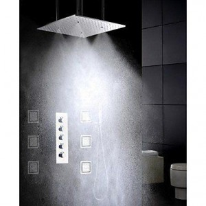 nd faucet 20 inch brushed atomizing rainfall shower b016nmmo3y