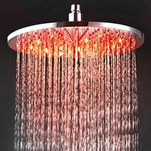 qqi faucet 12 inch led chromed brass rain shower b0165hfi12