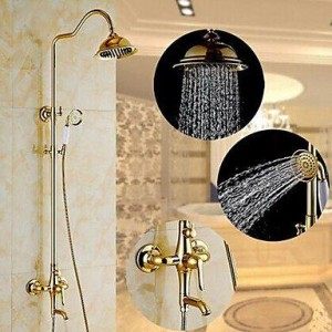 qqi faucet two handles wall mount rain shower b0165hcjw8