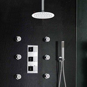 qw 8 inch thermostatic stainless rain shower b016bc2zdu