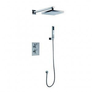 tuanduitm led 8 inch square solid brass concealed bathroom thermostatic b016kuzxs2