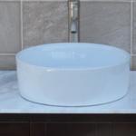 solid wood bathroom vanity cabinet glass sink 9