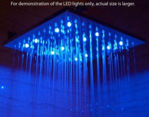 ALFI LED5011 Multi Color LED Rain Showerhead LED5011-PSS