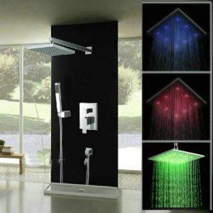 Detroit Bathware 022v 16-inch LED Showerhead