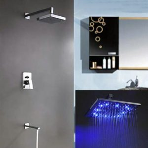 Detroit Bathware 55y Luxury 12-inch Rainfall LED Showerhead