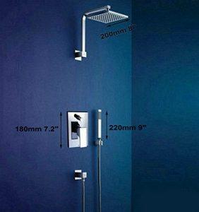 """Detroit Bathware Gv-71602 LED 8 """"Showerhead"""