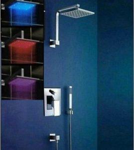 "Detroit Bathware Yanksmart 8"" LED Showerhead 241"