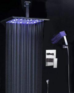 "Detroit Bathware Yanksmart Luxury 10"" LED Rain Shower Faucet 5214"